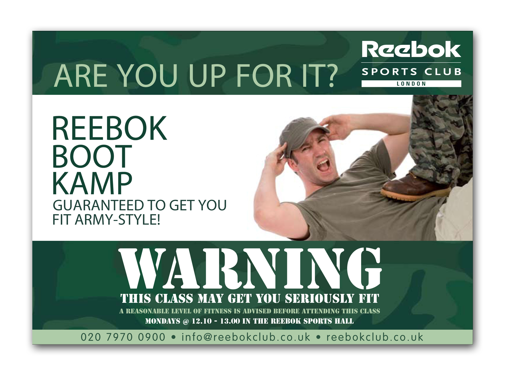 Design of Reebok ad