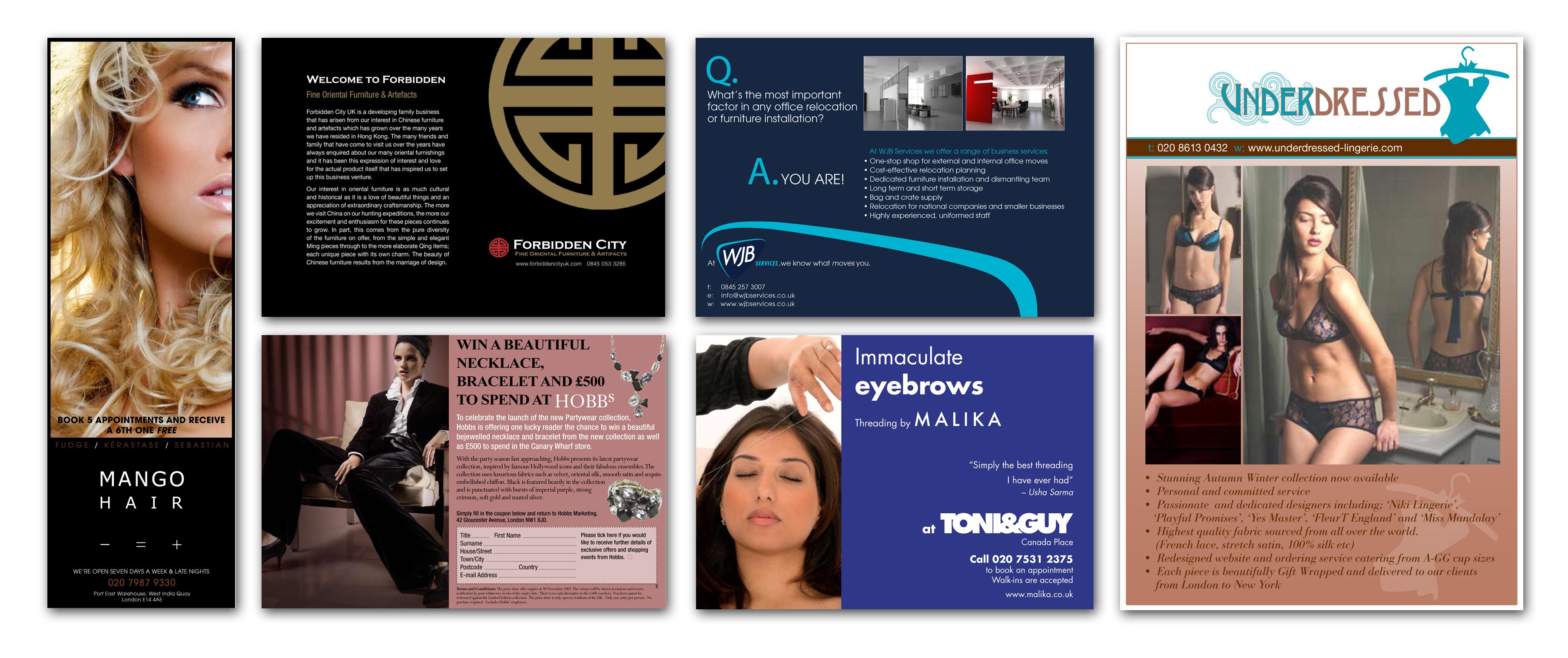 Design of ads RunWildMedia Magazines