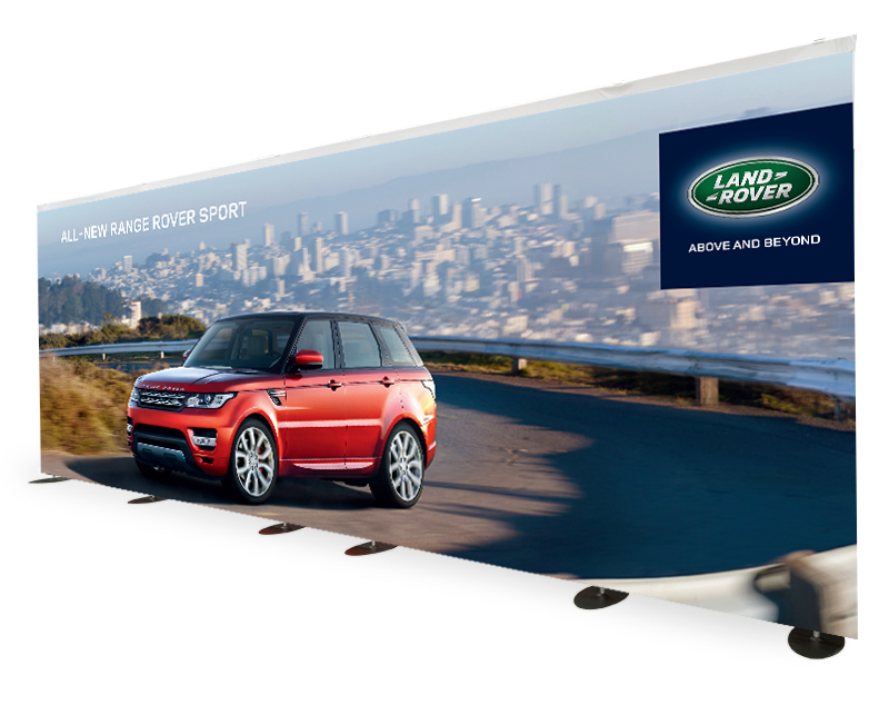 Production of backdrop Land Rover