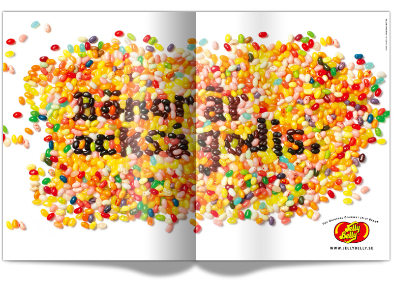 Design of Jelly belly ad