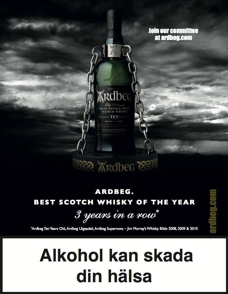 Production of Ardbeg ad
