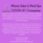 Copy of Miracle Salon & Medi Spa COVID-1