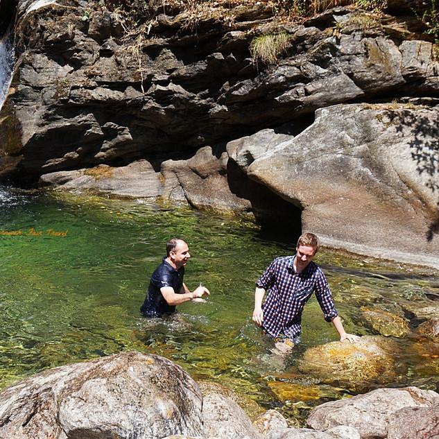 Swimming in hidden swimming holes