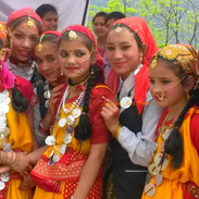 Himalayan girls all decked up