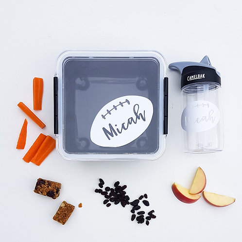 RUGBY PACK | LUNCH & DRINK BOTTLE DECALS