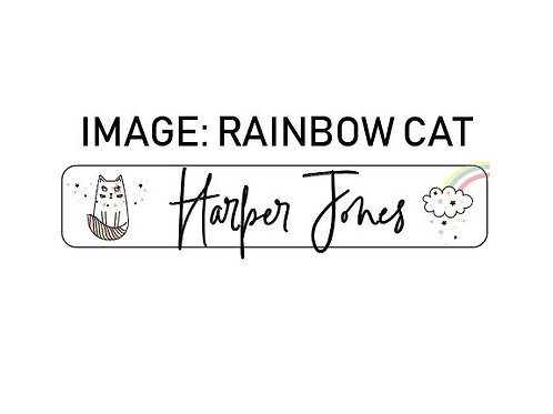 RAINBOW CAT NAME ME | IRON ON LABELS