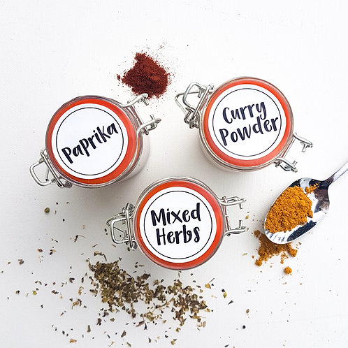 HERB & SPICE ME LABEL PACK | PIMP MY PANTRY