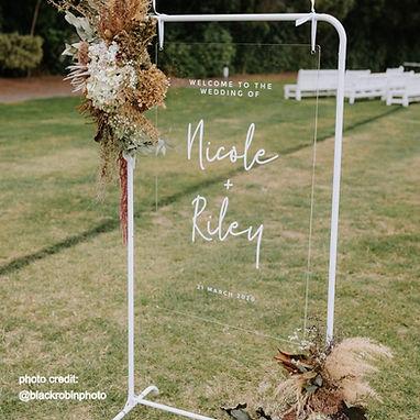 WELCOME SIGN | WEDDING DECALS