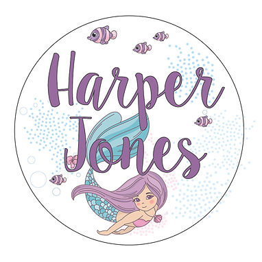 MERMAID CIRCLE PACK | LUNCH & DRINK BOTTLE LABELS