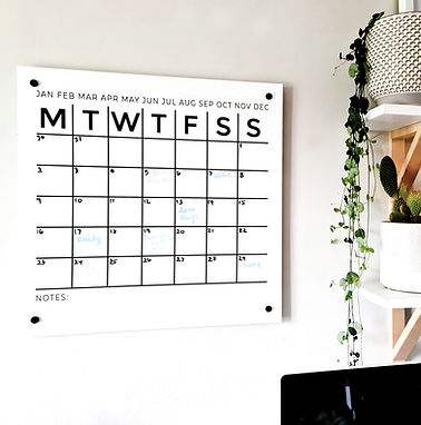 ONE MONTH WALL PLANNER | DECAL OR ACRYLIC BOARD