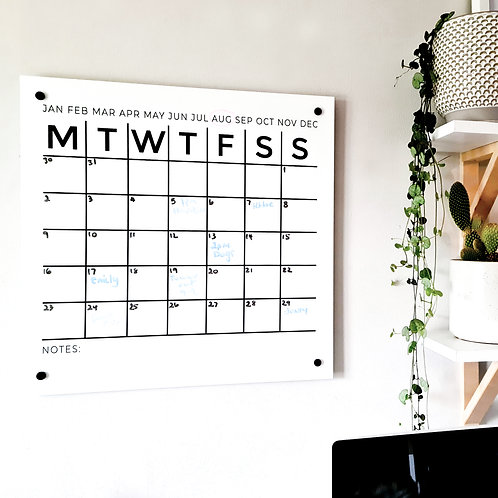 WALL PLANNER | ACRYLIC BOARD | 2 SIZES AVAILABLE