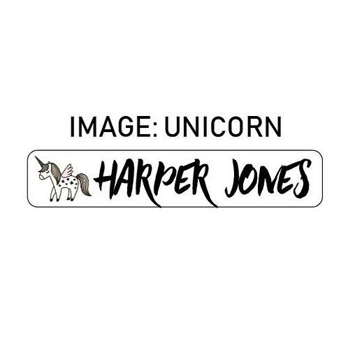 UNICORN NAME ME | IRON ON LABELS