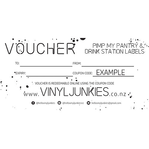 PIMP MY PANTRY & DRINK STATION VOUCHER | GIFT VOUCHER