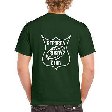 ADULTS GREEN TEE | REPOROA RUGBY