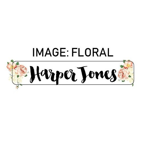 FLORAL NAME ME | IRON ON LABELS