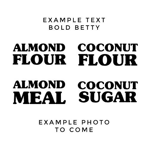 BOLD BETTY | KETO / GLUTEN FREE LABELS