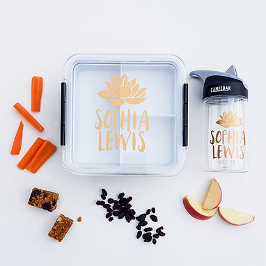 LOTUS PACK | LUNCH & DRINK BOTTLE DECALS