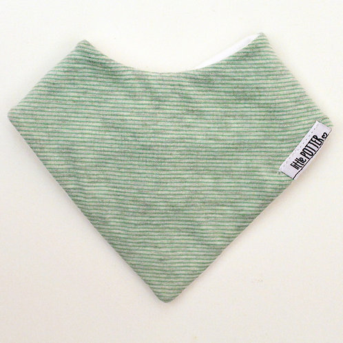 MINTY STRIPE DRIBBLE BIB  (KNIT)