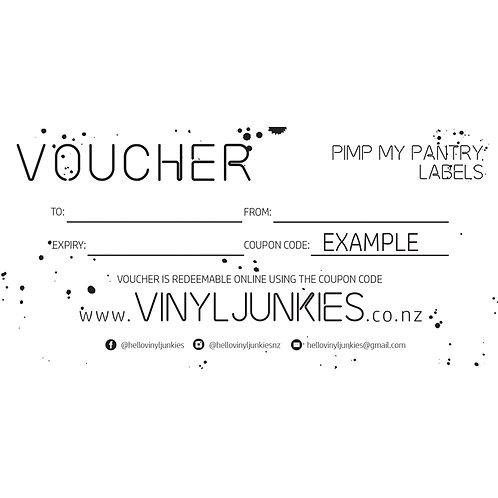 PIMP MY PANTRY VOUCHER | GIFT VOUCHER