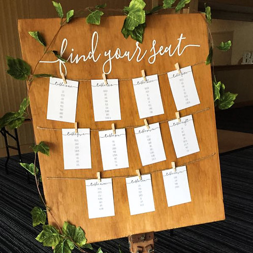 SEATING PLAN HEADING ONLY | WEDDING DECALS