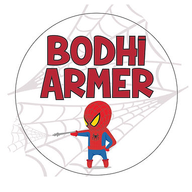 SPIDEYBOY CIRCLE PACK | LUNCH & DRINK BOTTLE LABELS