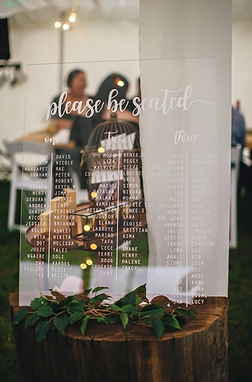 SEATING CHART   WEDDING DECALS