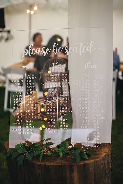 SEATING CHART | WEDDING DECALS
