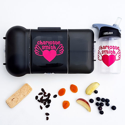 HEART PACK | LUNCH & DRINK BOTTLE DECALS