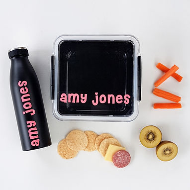 STRAIGHT LINES PACK | SIMPLE RANGE LUNCH & DRINK BOTTLE DECALS