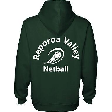 ADULT GREEN HOODIE | REPOROA NETBALL