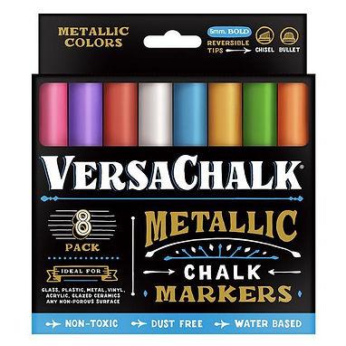 METALLIC CHALK MARKER BOLD 8 PACK   VERSACHALK