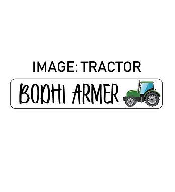 TRACTOR NAME ME   IRON ON LABELS
