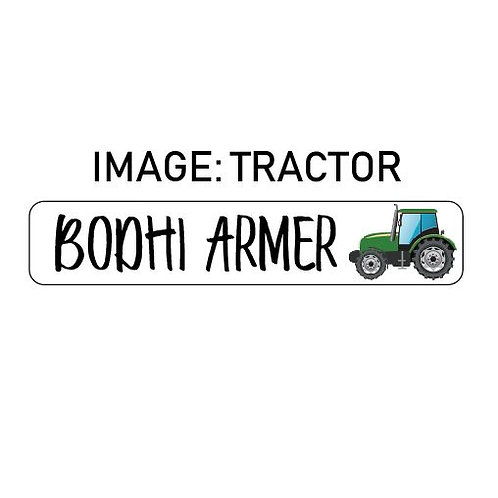TRACTOR NAME ME | IRON ON LABELS