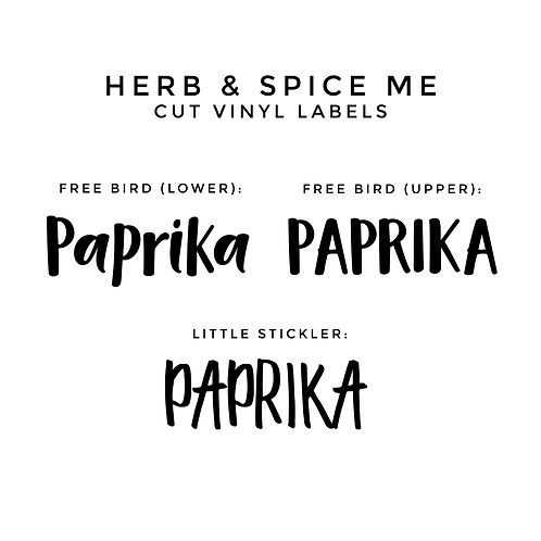CUSTOM CUT LABELS | HERB & SPICE ME