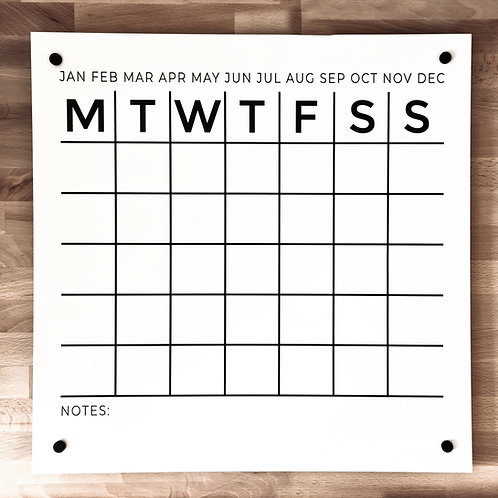 WALL PLANNER | DECAL for 500x500 BOARD