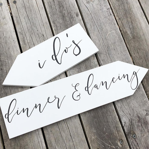 DIRECTION SIGNS | WEDDING DECALS