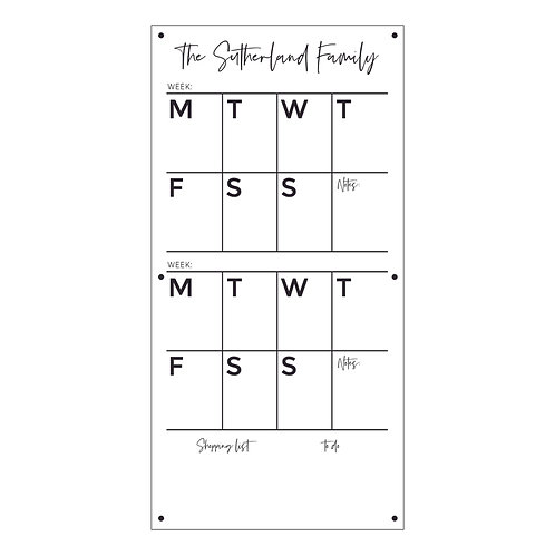 ROTATING WEEKLY WALL PLANNER | DECAL OR ACRYLIC BOARD