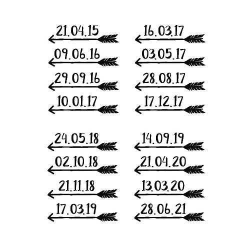 DATE CHART MARKERS | HEIGHT CHART