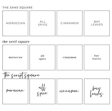 CUSTOM SQUARE/CIRCLE/RECTANGLE LABELS | HERB & SPICE ME LABELS