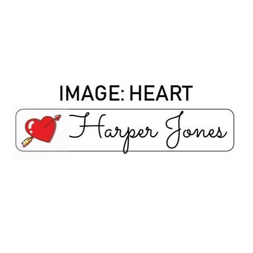 HEART NAME ME | IRON ON LABELS