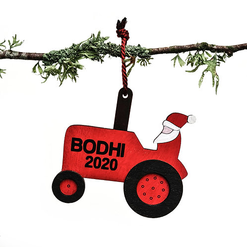 SANTA'S TRACTOR | CHRISTMAS DECORATION
