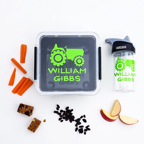 TRACTOR PACK | LUNCH & DRINK BOTTLE DECALS