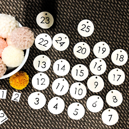 ADVENT CALENDAR NUMBERS | DECALS & IRON ONS