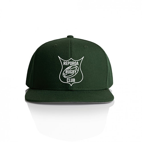 ADULTS GREEN SNAPBACK CAP | REPOROA RUGBY