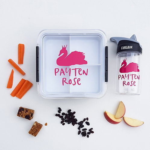 SWAN PACK | LUNCH & DRINK BOTTLE DECALS