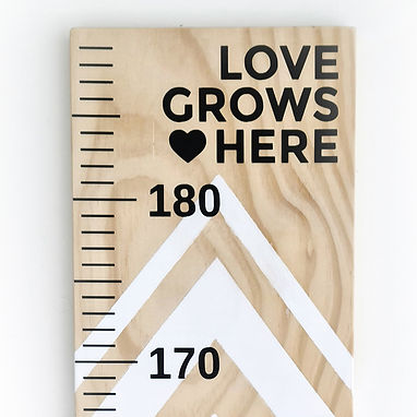 LOVE GROWS HERE   HEIGHT CHART