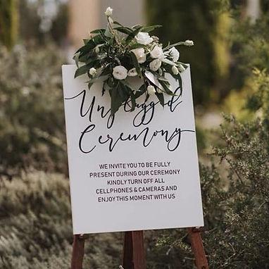 UNPLUGGED CEREMONY   WEDDING DECALS