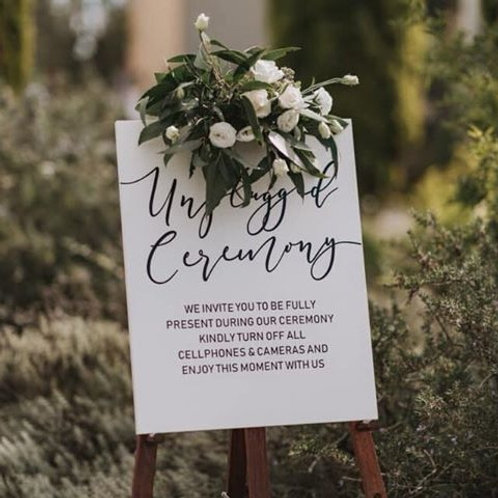 UNPLUGGED CEREMONY | WEDDING DECALS