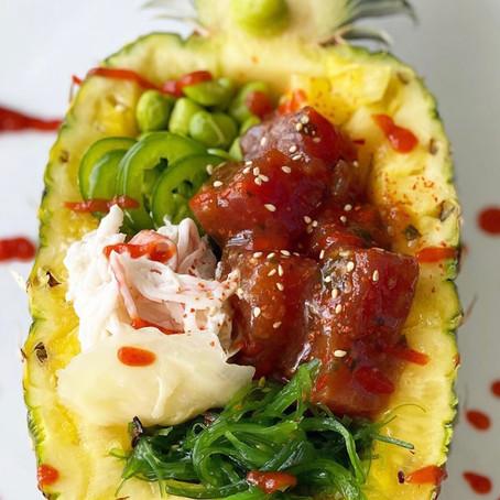 Pineapple Ahi Tuna Poke Bowl