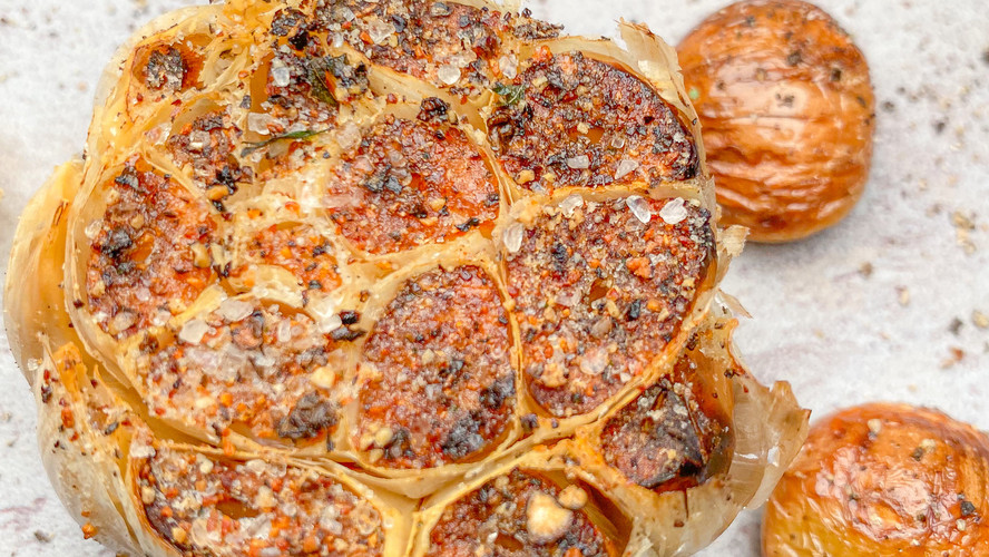 Roasted Garlic Bone Marrow